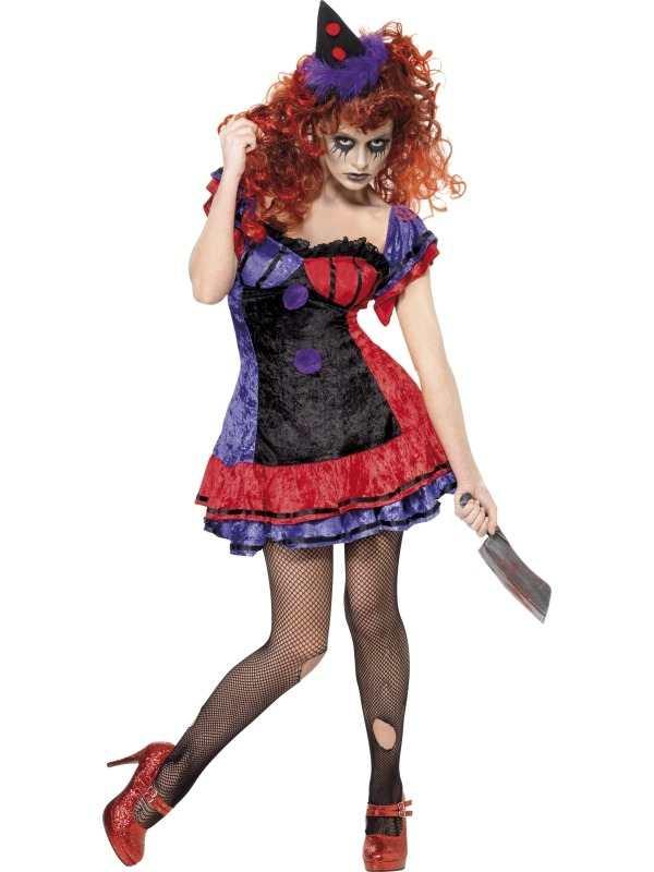 Halloween Kleding Dames.Aanbieding Circus Sinister Clown Dames Halloween Kostuum