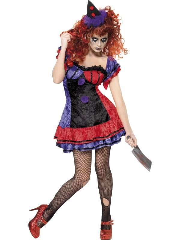 Halloween Kostuum Vrouw.Aanbieding Circus Sinister Clown Dames Halloween Kostuum