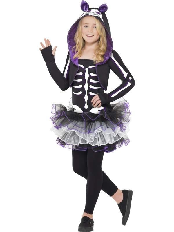 Halloween Kostuum.Skelly Cat Skeletten Meisjes Halloween Kostuum
