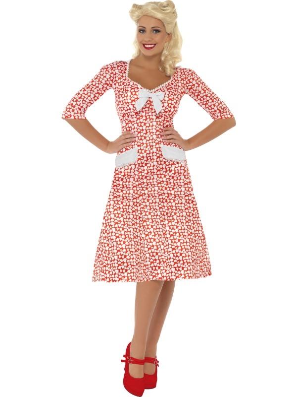 Aanbieding WW2 Sweetheart 1940's Dames Verkleedkleding Tot