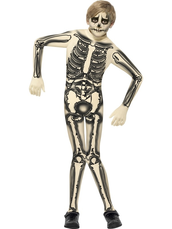 Halloween Verkleedkleding Kind.Aanbieding Skeletten Second Skin Jongens Halloween Verkleedkleding