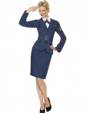 Kapitein WW2 Air Force Dames Kostuunm