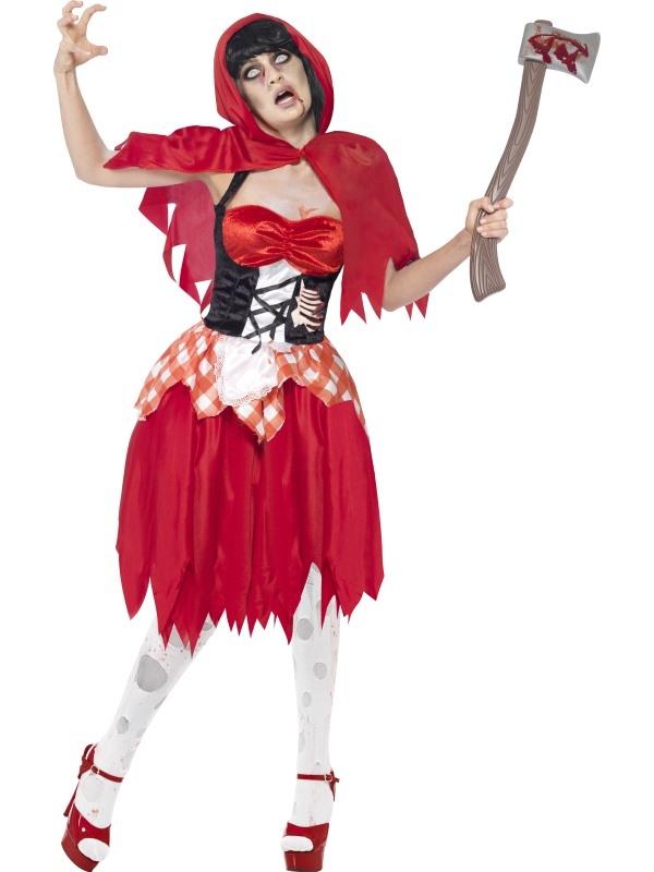 Halloween Sprookjes Kostuum.Aanbieding Zombie Roodkapje Horror Sprookjes Kostuum
