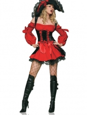 Vixen Pirate Wench Dames Kostuum
