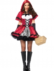 Gothic Red Riding Hood Kostuum