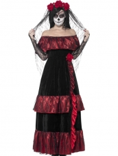 Aanbieding Day of the Dead Bride Halloween Kostuum