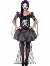 Goedkoop Day of the Dead Senorita Halloween Kostuum