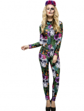 Aanbieding Fever Day of the Dead Gekleurde Catsuit