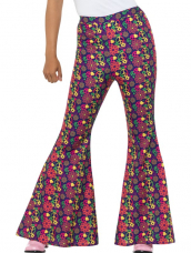 Flared 60's Psychedelic Flared Pants