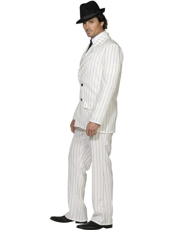 Aanbieding Wit Fever Gangster Heren Verkleedkleding