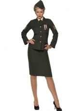 Wartime Officier Dames Kostuum