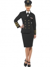 Navy Officer Officiere Dames Kostuum