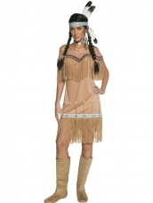 Aanbieding Western Authentic Indian Lady Kostuum