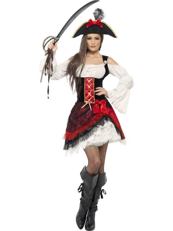 5b79296f572bfb Aanbieding Glamour Dames Piraten Kostuum snel thuis bezorgd!