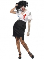 Aanbieding Work to Death Zombie Dames Horror Kostuum