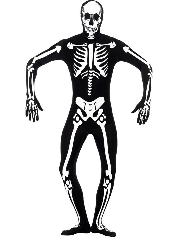 Skelet Voor Halloween.Aanbieding Skeleton Glow In The Dark Halloween Morphsuit