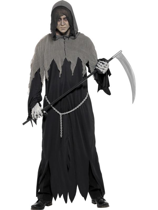 Halloween Kostuum Magere Hein.Aanbieding Magere Hein Heren Halloween Kostuum Met Ketting