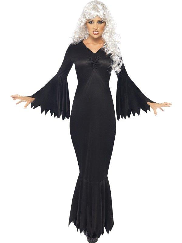 Halloween Kostuum Vrouw.Midnight Vampier Goedkoop Dames Kostuum